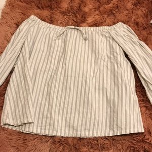 Striped Madewell blouse